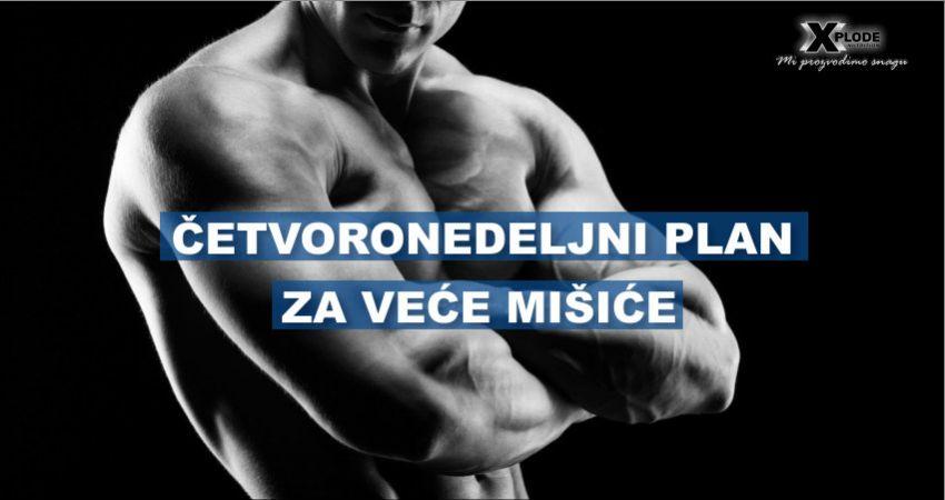Četvoronedeljni plan za veće mišiće - Xplode Nutrition