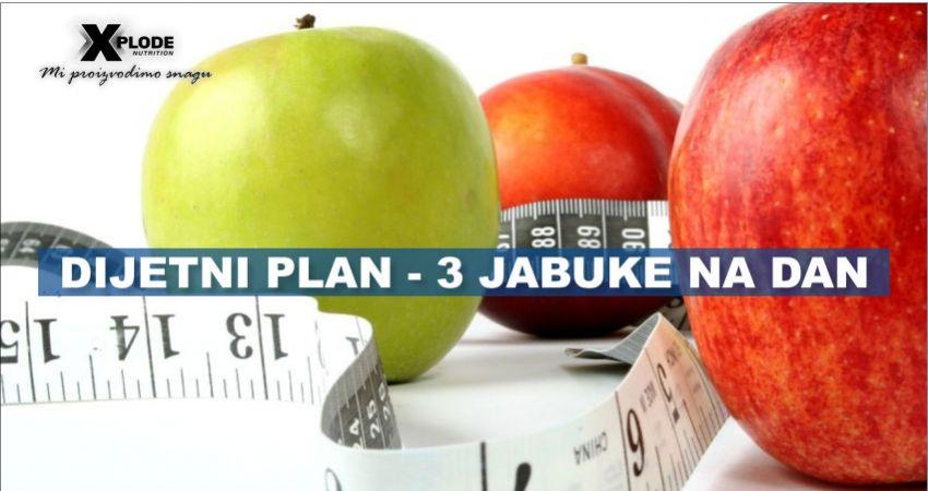 Dijetni plan - 3 jabuke na dan