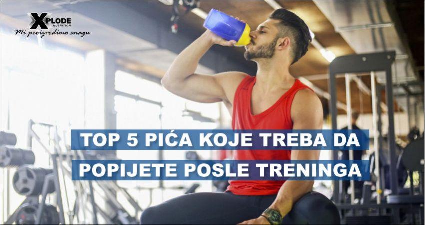 Top 5 pića koja treba da popijete posle treninga
