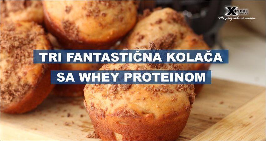 Tri fantastična kolača sa Whey proteinom