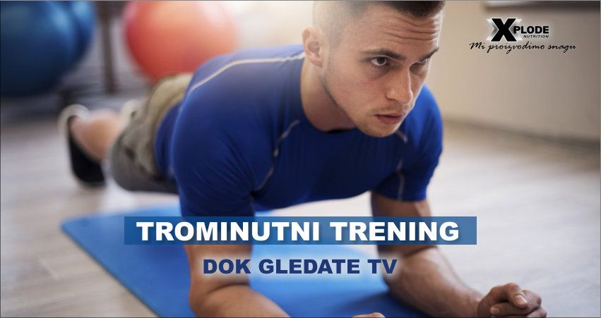 Trominutni trening dok gledate TV