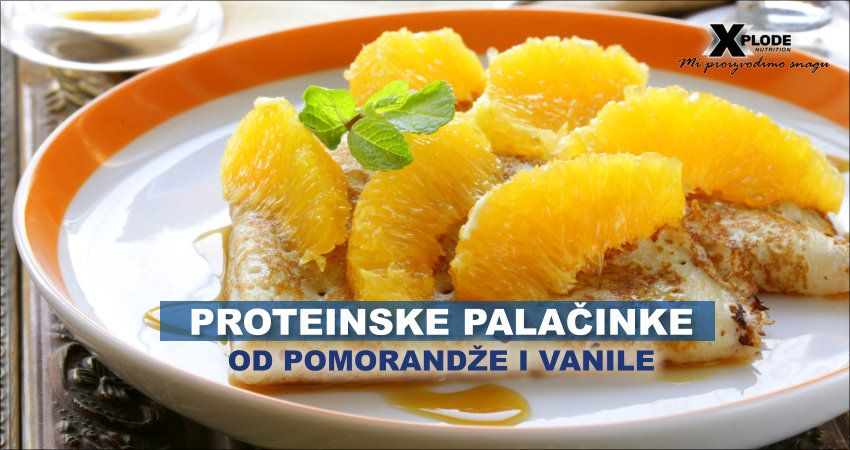 Proteinske palačinke od pomorandže i vanile